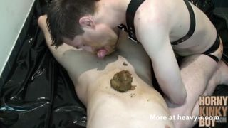 Horny kinky gay scat couple shitting and smearing poop on each ...